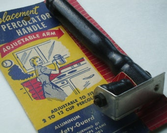 Vintage Replacement Percolator Handle - Still in Package - Neat Graphics - 1950's