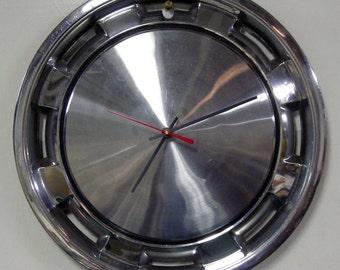 Mopar Hubcap Clock - 1981 - 1983 Dodge Aries, Plymouth Reliant, Chrysler LeBaron Hub Cap Wall Clock - 1982