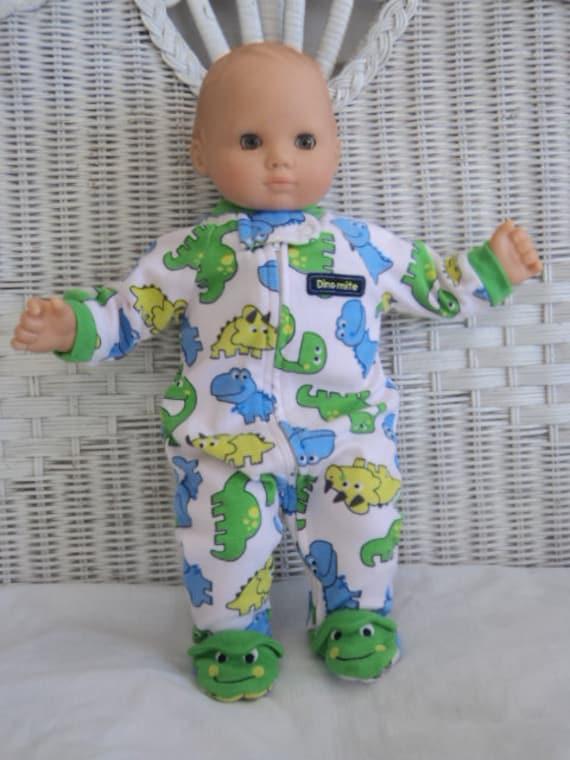 Bitty Baby Boy dinosaur Footed Pajamas