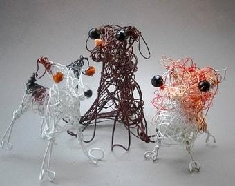Custom Dog Portraits , Custom Pet Portrait, Dog Art Work Decor, Made to Order Dog Decor, Dog Gift Idea, Custom Dog Figurine Ornament
