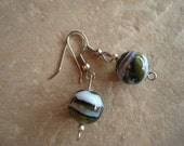 Green, Black and Silver Bead Earring Set (E-202)