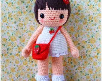 PDF Crochet Pattern - Strawberrica