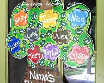 Family Tree Door Hanger - Bronwyn Hanahan Art