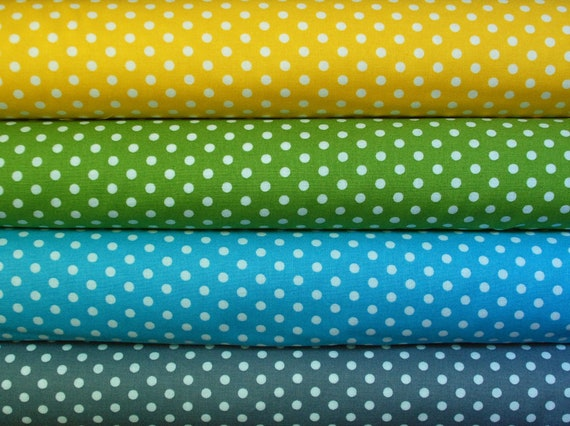 Robert Kaufman, Everything Nice, Polka Dot HALF YARD BUNDLE