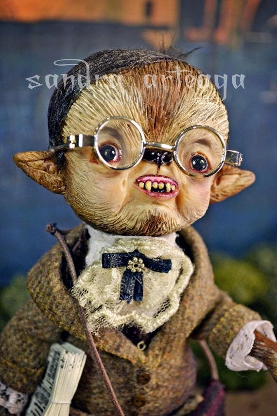 FINAL PAYMENT - on reserve - Cyprien - Art Doll Halloween werewolf