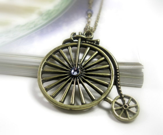 Penny Farthing Bicycle, Vintage Style Necklace