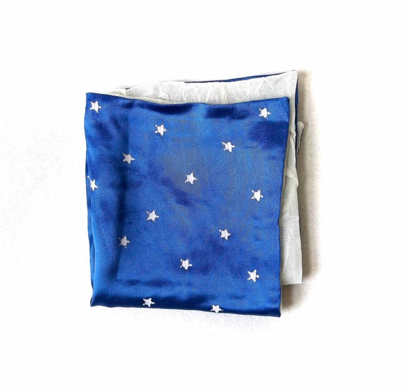 Stars and Clouds Silky Pocket Square Accessory for Men from the Paul McCall Line for Men