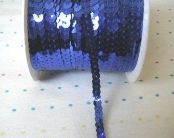 Royal Blue Sequin Trim, 6 mm - 5 Yards