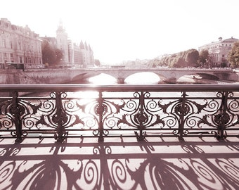 Paris Photography - Pont Notre Dame, Bridge Over the Seine at Sunset, French Wall Decor