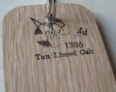 Wilson Art Laminate Sample Key Ring Tan Limed Oak