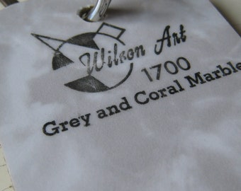 Wilson Art Laminate Sample Key Ring Grey and Coral Marble