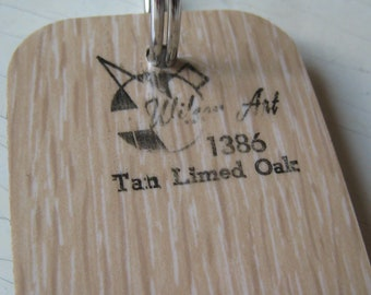 Wilson Art Laminate Sample Key Ring Tan Limed Oak