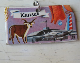 Kansas Vintage Puzzle Pendant