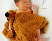 Doggie Toy Lovie Blanket Crochet Pattern PDF 596