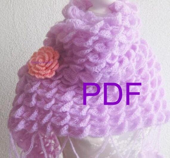 PDF CROCHET PATTERN pattern for scarf, shawl, Tutorial,