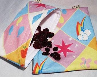 My Little Ponies Reusable Sandwich Bags