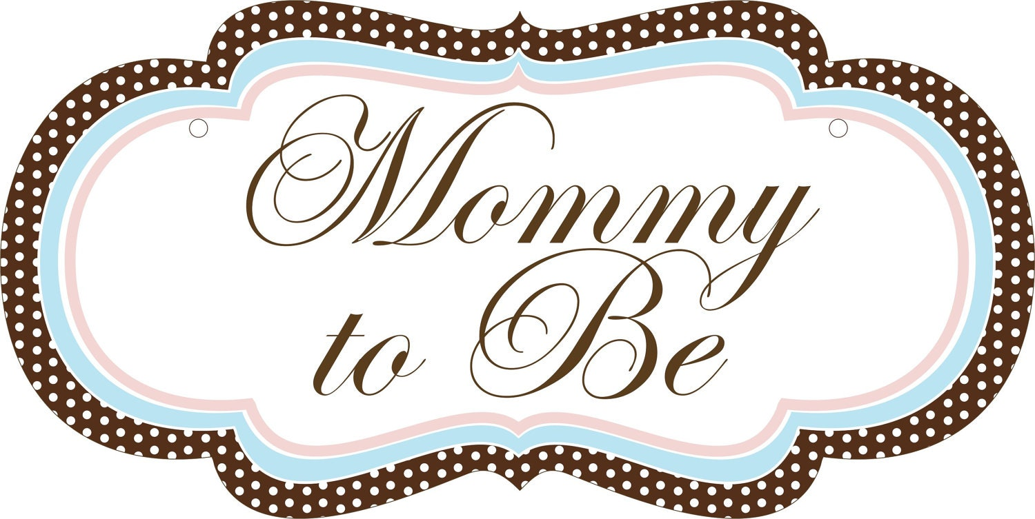 custom baby shower chair signs for the mommy to be
