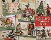 INSTANT Download - SALE Digital Christmas Decorations, Centerpiece Or 3D Greeting Cards - Paper Doll Set of 7 Characters For Crafters XP7XP