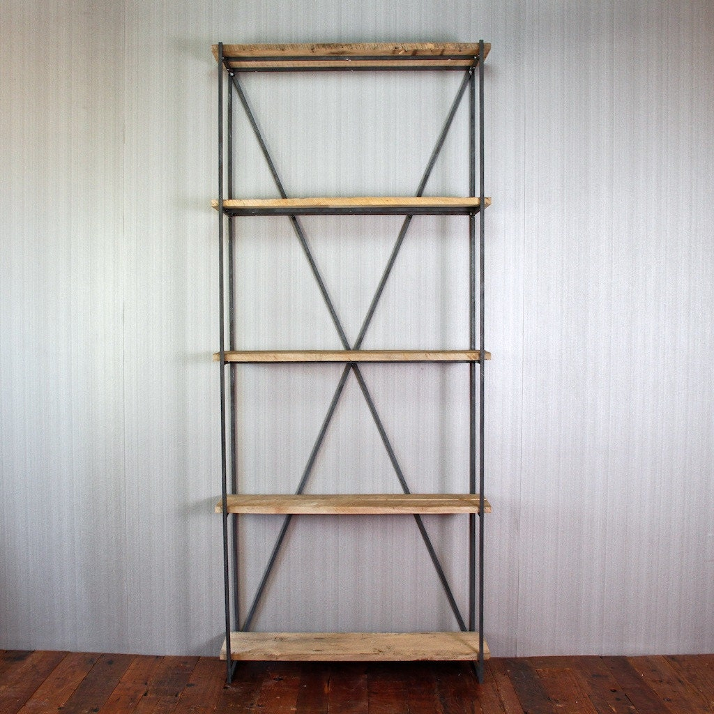 Superb img of Gorgeous Bookcase made of Reclaimed wood from by CroftHouseLA with #623828 color and 1024x1024 pixels