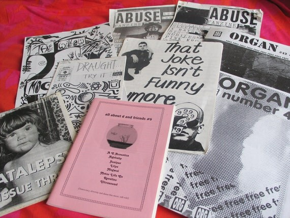 SALE SALE SALE Amazing collection of rare iconic early 1990s handmade fanzines