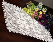 Four flower Crochet Doily 2