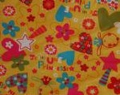 Yellow Lucky Charms PUL Fabric Waterproof Diaper Cut