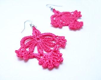 PDF Tutorial Crochet Pattern...Lace Dangle Earrings -8
