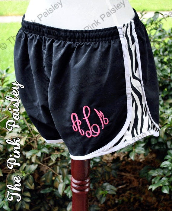 Monogrammed Running Shorts  Youth and Adult Sizes