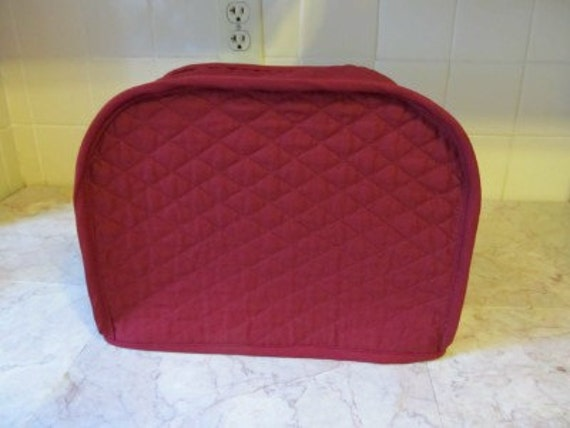 burgundy 2 slice toaster cover ready to ship by cozykitchencovers. Black Bedroom Furniture Sets. Home Design Ideas
