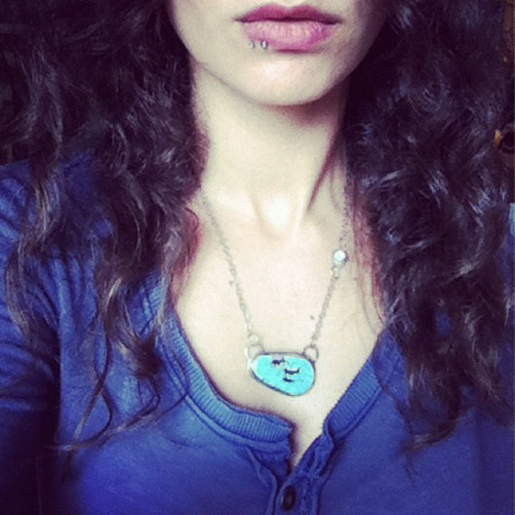 Southwest Sky Turquoise and Chalcedony Necklace