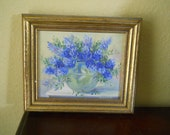 Oil Painting of Flowers signed Napier
