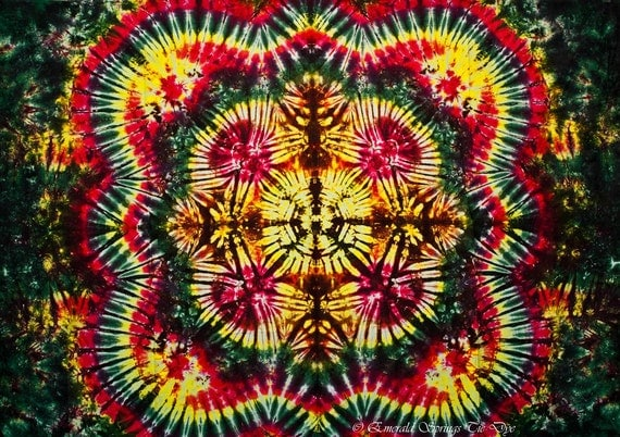 Tie Dye Tapestry 58x40 inches