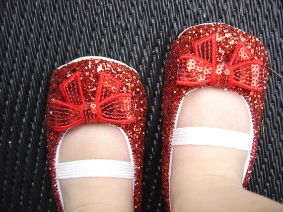 Sparkle Glitter shoes in Red