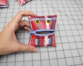 Monster Coin Purse in Perfect Plaid