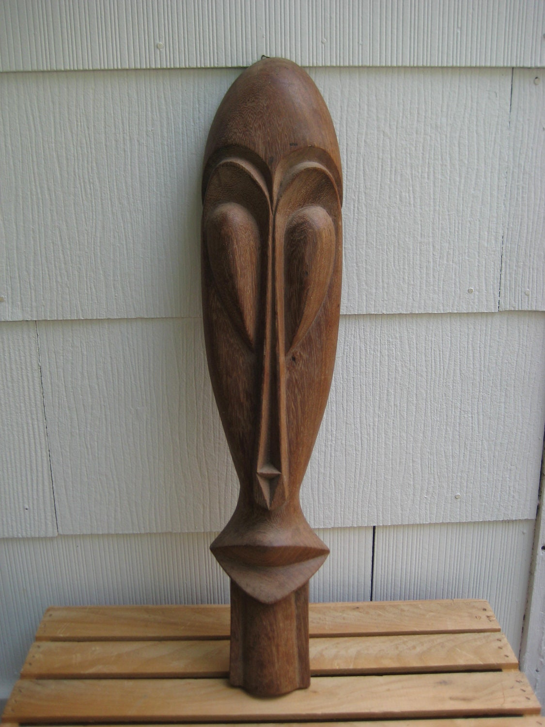sale vintage hand carved wooden african mask wall hanging