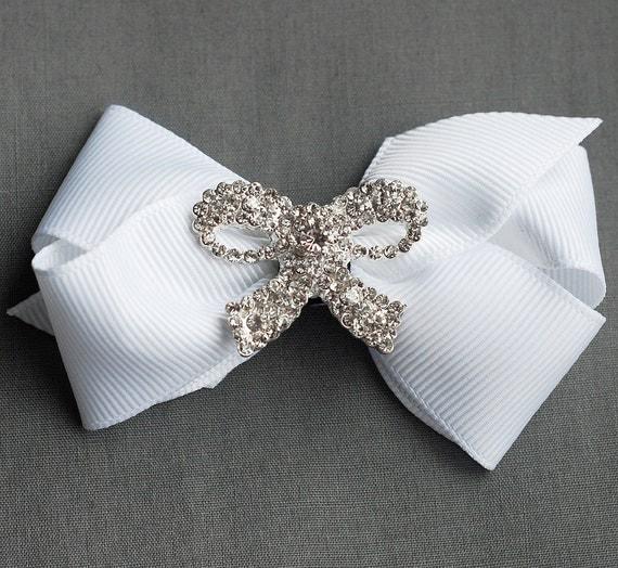 Rhinestone Buckle Wholesale Buckle Crystal Slider Silver Wedding Invitation Wedding Supply Napkin Ring BK083 Ribbon Bow Buckle