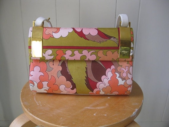 60s authentic silk EMILIO PUCCI handbag purse