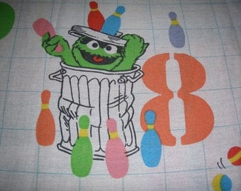 Muppets Counting TWIN FLAT Sheet - Reclaimed Bed Linens