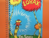 The Lorax Dr. Seuss Premium Vintage Recycled Children's Book Journal Free US Shipping