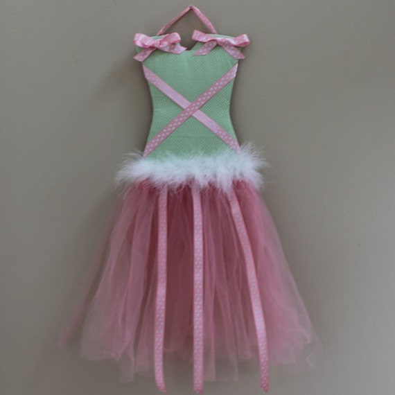 TUTU GIRL-Barrette Holder...accessory storage and wall art.