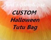 DEPOSIT: Deposit for 2 Customized Halloween Trick or Treat Tutu Bags