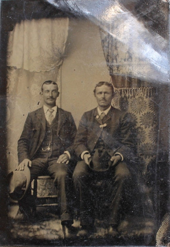 RESERVED FOR NICOLE / Victorian Tintype / Father and Son