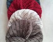 Spiral Knit Beret Pattern