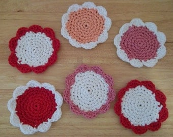 Coaster - Crochet Set of Coaster - Set of Six Coaster - Cotton