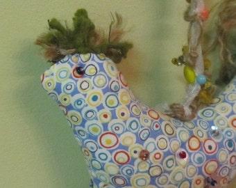 Good Luck - Folk Art - Home Decor  -  Lucky Chicken  -  Good Luck