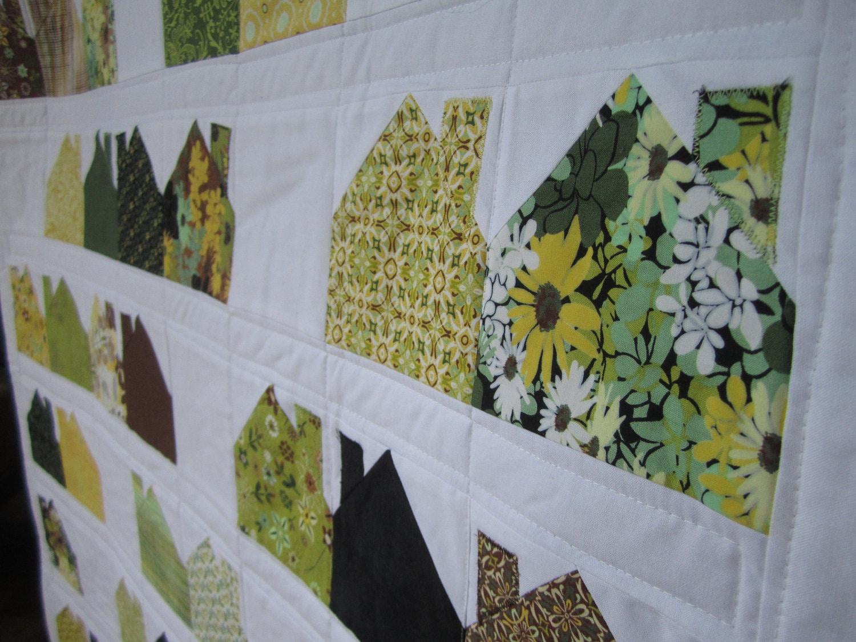 modern house quilts