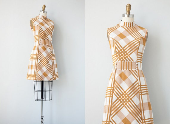 vintage 1960s dress / 1960s mod scooter dress / vintage 60s 70s dress