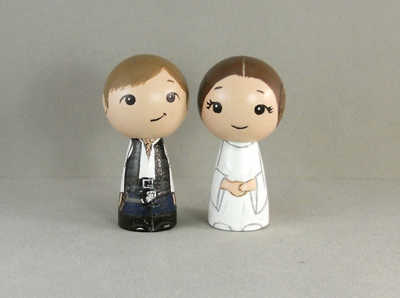 Han and Leia Wedding Toppers