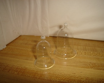 Set/2 Miniature Fairy Garden Glass Cloches/Craft Supplies*
