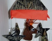 Camo Crib Mobile w/deer head